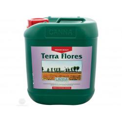 El fertilizante de Floración Terra Flores de 5 litros - Canna , la cultura en el suelo