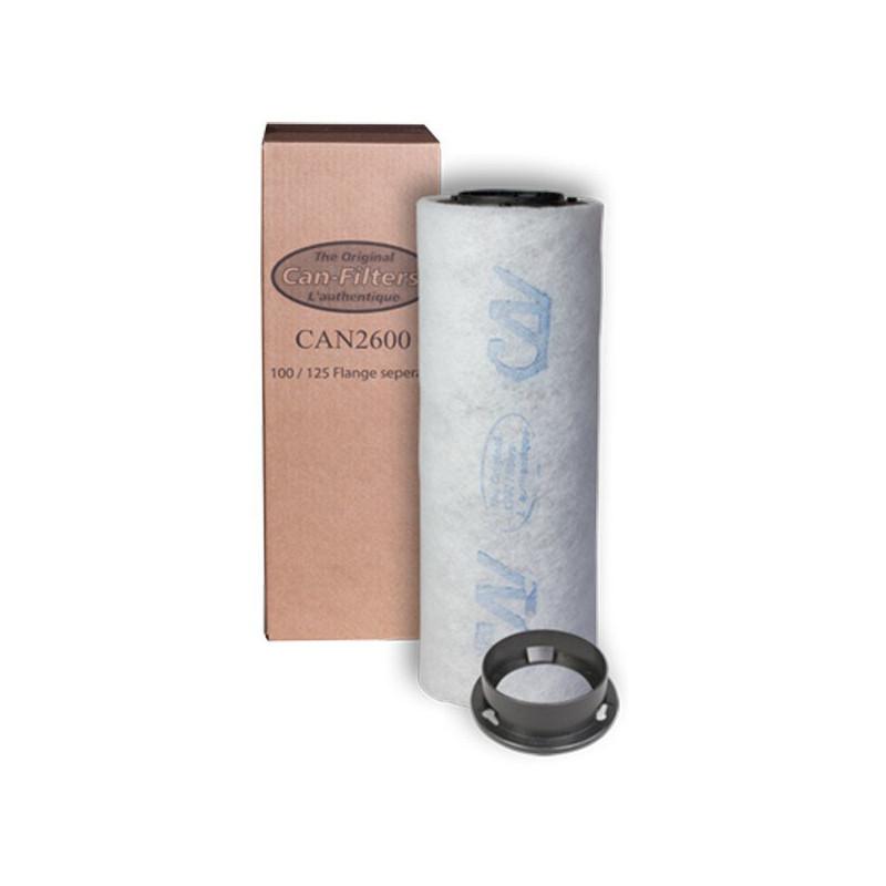 Filtre à charbon Can Filter 2600 - Option Flange non inclus - 125 mm (156 à 300m3/h)