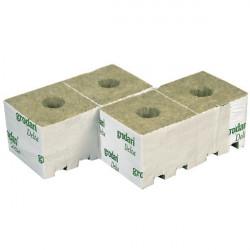 10 cubes de laine de roche 10X10X6,5cm - Grodan