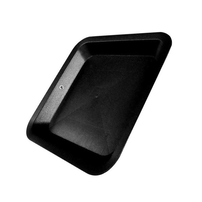 Coupelle Carree noir 28,5 x 28,5 cm x 10pcs pour pot carré