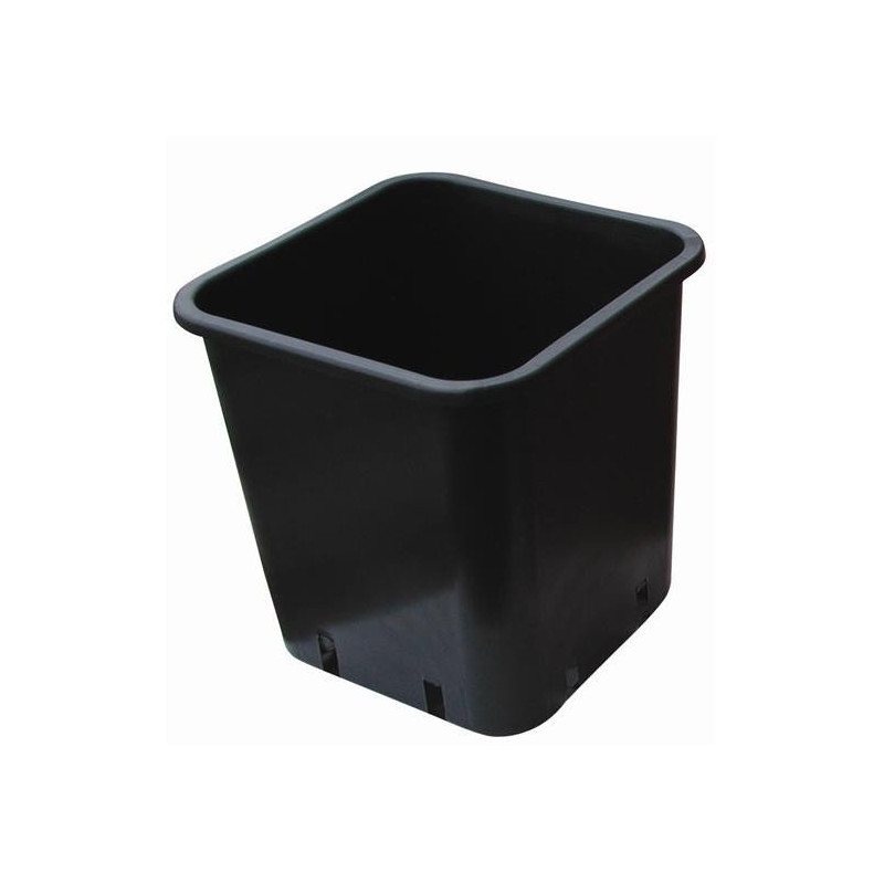 Pot carré noir 12X12X13 1,5L x 100pcs