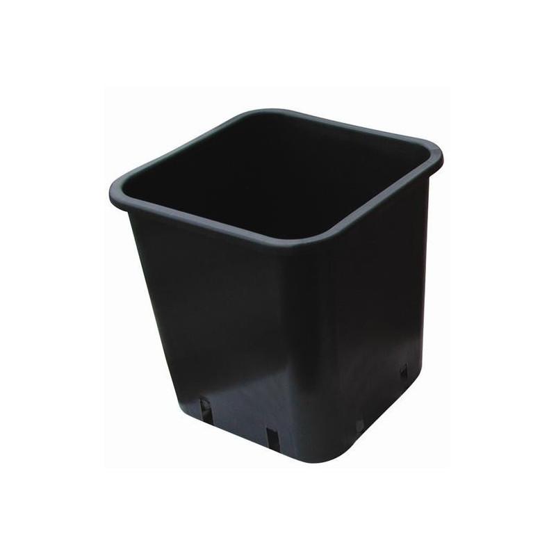 Pot carre noir 13 X 13 X 18 2.4L x 100pcs