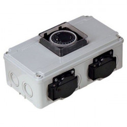 Boitier relais timer 2 x 600 watts maxi - DV12 - Davin