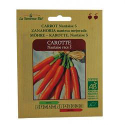 SEMILLAS ecológicas -ZANAHORIA NANTES de la Semilla, orgánica Nantes zanahorias - La semilla orgánica
