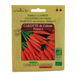 Semillas orgánicas de zanahoria Colmar - La semilla orgánica