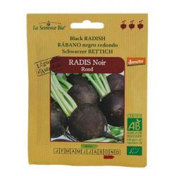 Graines bio Radis Noir rond Demeter - La Semence Bio