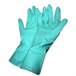 Par de guantes verdes de Nitrilo 31cm Fito - Mapa