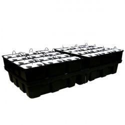 Système aéroponique AeroPro 2m² 24 pots 96 plantes - Platinium
