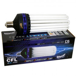 CFL bombilla de Doble 250W - 2100°K + 6400°K - Crecimiento-Floración - E40 - Superplant