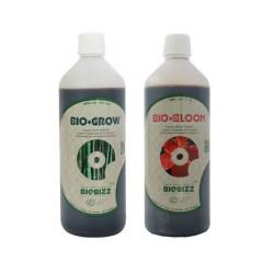 Biobizz pack de fertilizantes, de crecimiento y floración orgánico 1 litro