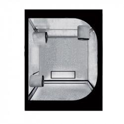 Cámara de cultura del Propagador de 90 x 60 x 100 cm reversible - Negro Plata