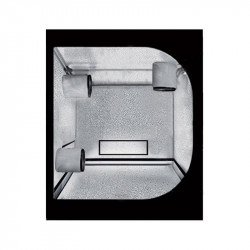 Cámara de cultura del Propagador de 60 x 60 x 100 cm reversible - Negro Plata