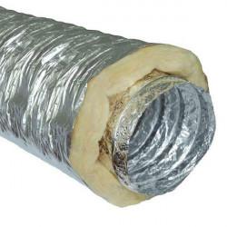Gaine insonorisée à la laine de roche - 100mm x 10m - conduit de ventilation