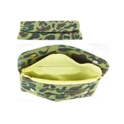 Pochette camouflage vert zip