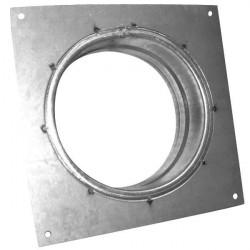 Brida cuadrada de metal ø 100 mm - Conducto de ventilación