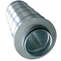 Silencieux métal 150/600mm-conduit de ventilation