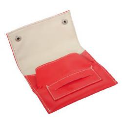 Pochette bi color 13x7.5cm - dl-12 rouge surpique blanc