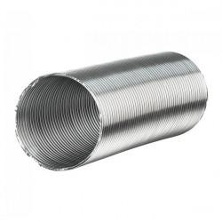 Gaine aluminium semi-rigide - 150mm x 3 mètres ventilation