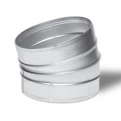 Raccord - Angle métal 15° 150mm - Winflex ventilation