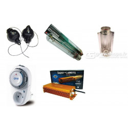 Experto Kit plug and play 600w Grolux tubo de cable fresca