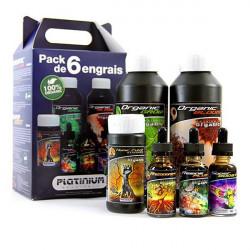 Starter pack de 6 engrais Terre - Platinium