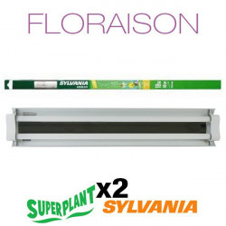 Rampe néon Floraison T5HO 4x24W Grolux Plug and Play - Superplant & Sylvania