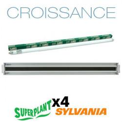 Kit de crecimiento T5HO 8x54W 6500K Plug and Play - superplanta y Sylvania