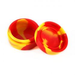 Boite en silicone - Jaune et Rouge