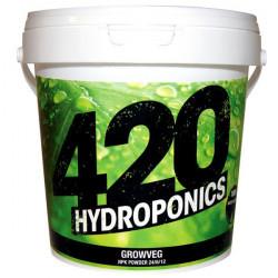 Growveg - 1 kg - Abonos, el crecimiento de 420 Hidroponía hydro/suelo/coco