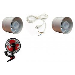 Mini Kit de ventilación intra 125 mm extra de 150mm y de la bobina del ventilador de pinza