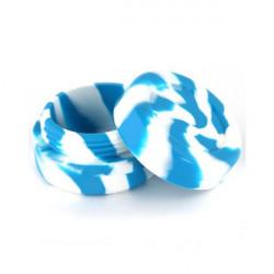 Boîte en silicone ronde - Bleu et Blanc