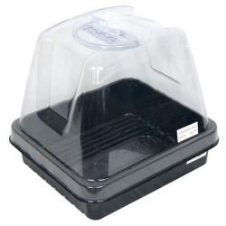 De efecto invernadero Propagador 12 con ventilación ajustable -28x25x18cm Platinium - esquejes y plántulas
