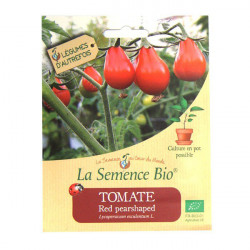 Semillas ecológicas Tomate Rojo Pearshaped 20gn de Semillas Orgánicas