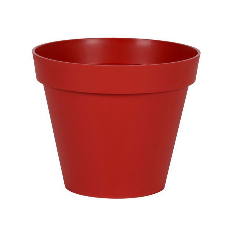Pot rond Toscane Rouge Rubis - 48x40cm 43L - EDA Plastiques