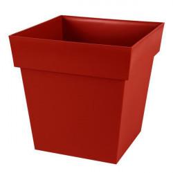 Pot carré Toscane Rouge Rubis - 39x39x39cm 38L - EDA Plastiques