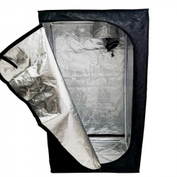 Sala de cultura de Mylar Eco - 150 x 150 x 200 cm - Negro Plata