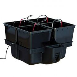 Système hydroponique Platinium HydroPro 60 4 pots avec MJ 500