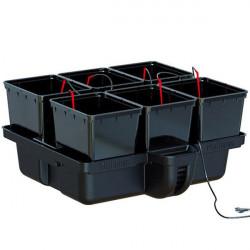 Système hydroponique Platinium HydroPro 80 6 pots avec MJ 500