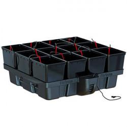 Système hydroponique Platinium HydroPro 100 12 pots avec MJ 1000