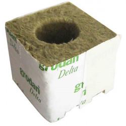 Cubes de laine de roche 75x75x65 par 8 Ø38mm - Grodan