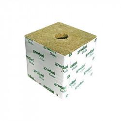 Los cubos de lana de roca de 10x10x6.5 - Agujero 27/35 mm - Caja de 216 cubos - Grodan