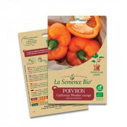 Semillas de Pimiento California Wonder naranja - 20 semillas: La Semilla Orgánica
