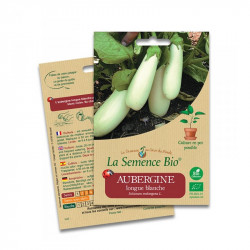 Graines Aubergine longue blanche - 20 graines - La Semence Bio