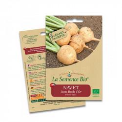 Graines Navet Jaune boule d'or - 300 graines - La Semence Bio