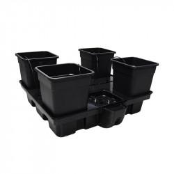 Systeme hydroponique HydroStar 100 - 4 Big Pots 25L - Platinium Hydroponics
