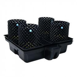 Sistema hidropónico Olla Grande XL Aire 80-4 - Platinium Hidroponía - hidro-suelo-coco