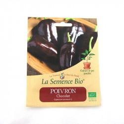 SEMILLAS ecológicas - dulce PIMIENTA CORNO DI TORO de CHOCOLATE (20GN) - La Semilla Orgánica