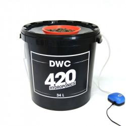 système Aéroponique DWC 34L - 420 Hydroponics Deep Water Culture panier 10cm