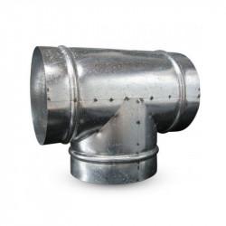 Raccord T en métal 250mm 90° winflex ventilation