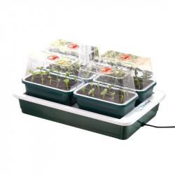 4 mini-invernadero calefacción FAB4 - 38.5 x 24 x 17,5 cm - Guirnalda de germinación-esquejes